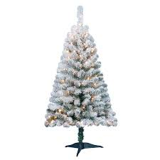 holiday time pre lit 4 u0027 greenfield flocked pine green artificial