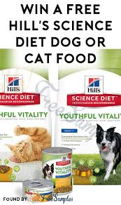 live at 1 15pm est win a free hill u0027s science diet dog or cat food