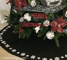 chalkboard plaid christmas tree u create