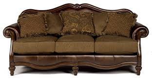 Ashley Leather Living Room Furniture Signature Design By Ashley Claremore Antique Traditional Two