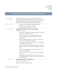 transportation security officer resume resume for your job