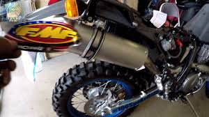 dr650 update fmf exhaust procycle breathe easy kit part 1 youtube