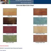 Stain Color Chart Concrete Coating Color Chart Concrete Color Charts Color Samples For Coloring Concrete The