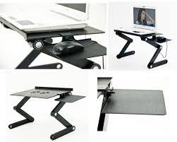 Adjustable Laptop Desk Adjustable Vented Portable Laptop And Tablet Desk Getdatgadget