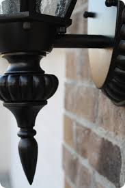 Black Exterior Light Fixtures Spray Painting Outdoor Lights It Works From Thrifty Decor
