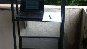 mobile standing desk from lerberg shelf ikea hackers ikea hackers