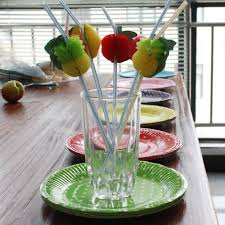 aliexpress com buy 50pcs lot 3d fruit drinking straw multicolor