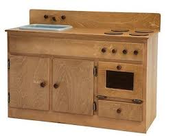 childrens wooden kitchen furniture kitchen sink stove oven amish handmade wood play furnite oak