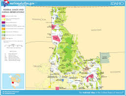 Idaho Road Map Map Of Idaho Map Federal Lands And Indian Reservations