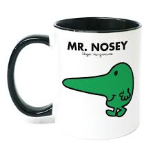 personalised mr nosey large porcelain colour handle mug u2013 shop