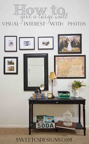 Decorating a large wall with s