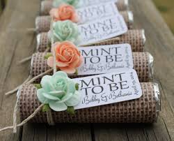 country wedding favors mint wedding favors set of 24 mint rolls mint to be favors