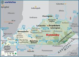 map kentucky lakes rivers large color map of kentucky