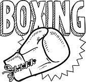 clipart of boxing sketch k12202261 search clip art illustration