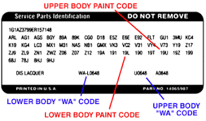 gm color guide car code plastikote paint products