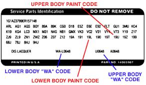 gm color guide car code plastikote paint products