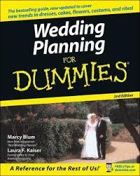 weddings for dummies wedding planner wedding planner for dummies