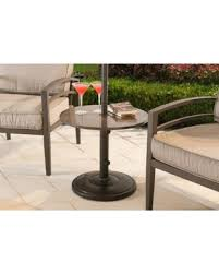 stone patio side table deals on sunjoy monty steel silver and stone side table with