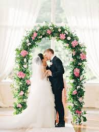 wedding arch greenery wedding arch with greenery and pink hydrangeas