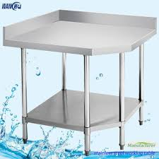 stainless steel corner work table commercial restaurant stainless steel corner worktable corner