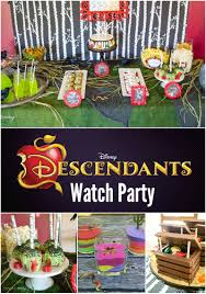 halloween bday party ideas real party disney u0027s descendants watch party disney s