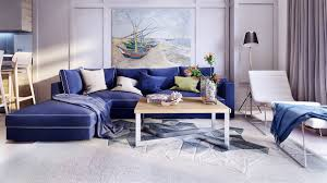 royal blue sofa interior design ideas