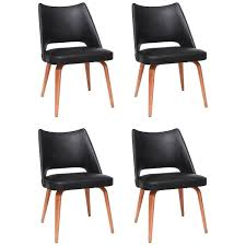 Modern Dining Room Chairs In Thonet Dining Chairs In Teak And Leatherette 1950s Austria