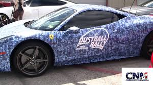 blue camo lamborghini ferrari with a blue camouflage wrap by john d villarreal youtube
