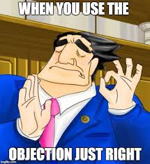 Objection Meme - pacha phoenix wright imgflip