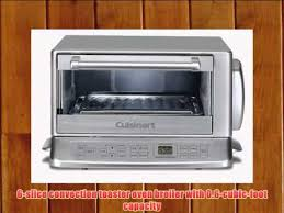 Cuisinart Compact Toaster Oven Broiler Cuisinart Tob 195 Exact Heat Toaster Oven Broiler Stainless Youtube