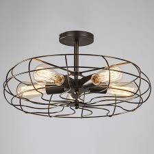 Kitchen Fan Light Fixtures Ygfeel Ceiling Lights Vintage Retro Industrial Fan Lamps American