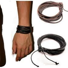 bracelet cuir homme images Bracelet homme lani res et cordon cuir bracelets homme jpg