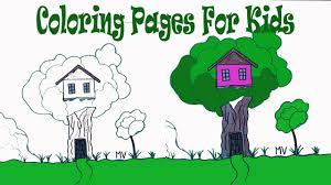 coloring pictures kids coloring pages a house youtube