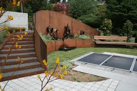 exterior design landscape design that gives coolness and