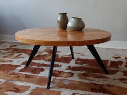 mid century round coffee table str8mcm mid century modern coffee table