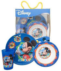 Mickey Mouse Kitchen Set by Amazon Com Mickey Mouse Clubhouse 3pc Dinnerware Set Kitchen
