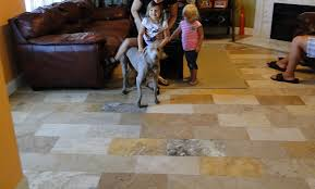 Spicing Up Your Family Room With Travertine Tile - Family room flooring