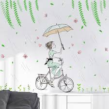 compare prices on wall sticker girl fairy online shopping buy low new 2017 wall flower sticker fairy girl stickers bedroom living room wall stickers home decor