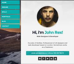 25 cool html virtual business card templates 2016 tutorial zone