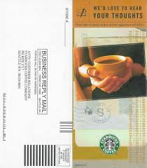 Starbucks Business Cards The Starbucks Customer Feedback Experience Customer U Where