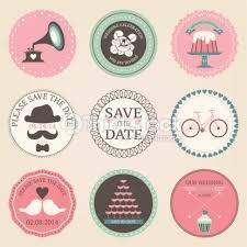 wedding scrapbook stickers vector collection of vintage wedding decorative stickers retro