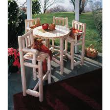rustic natural cedar furniture company 5 pc bistro set