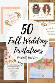 wedding invitations 50 fall wedding invitations