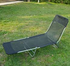 Folding Chaise Lounge Outdoor Folding Adjustable Recling Patio Beach Sun Chaise Lounge