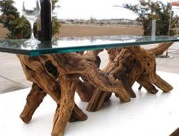 tree trunk dining table tree trunk table glass top recycled furniture crafts tierra este