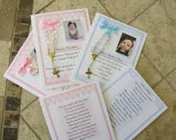 rosary favors for baptism 20 baptism favors medal cards personalized baptism favors