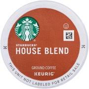 starbucks house blend medium ground coffee k cups 16 ct box