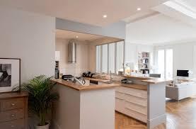 photo de cuisine ouverte plan cuisine ouverte sur salon conseil decoration interieur 8 avec