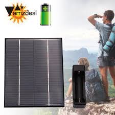 charging box amzdeal new 3 5w 5v solar power panel outdoor phone battery