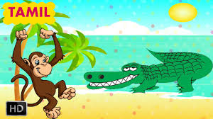 panchatantra stories in tamil the monkey and the crocodile